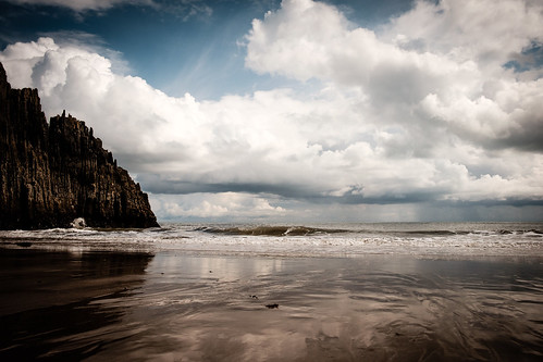 sea sky holiday wales landscape coast unitedkingdom pembrokeshire manorbier