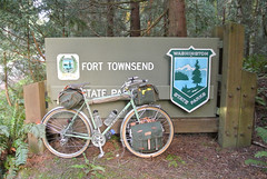 April Bicycle Camping day 1 - NFE at Fort Townsend State Park
