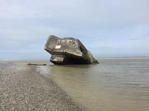 Blockhaus à la pointe du Hourdel à cayeux-sur-mer