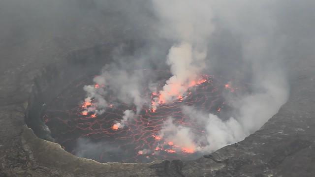 C. Lava Lake (Day Time), Nyiragongo Volcano, Virunga National Park, Democratic Republic Of Congo