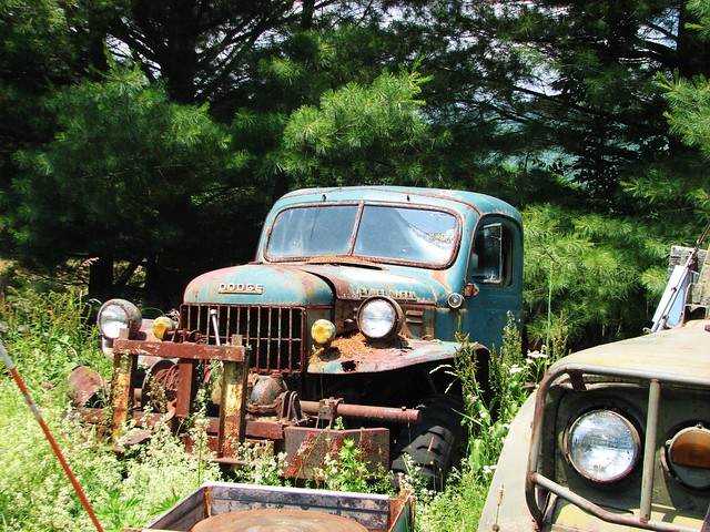 OLD TIRED POWER WAGON