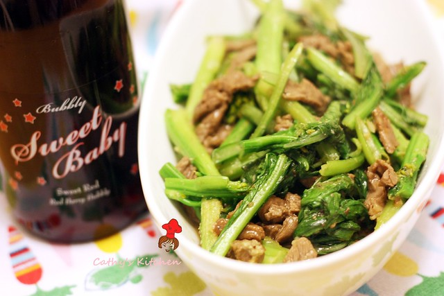 芥蘭炒牛排 Stir fried Steak with Chinese broccoli 1