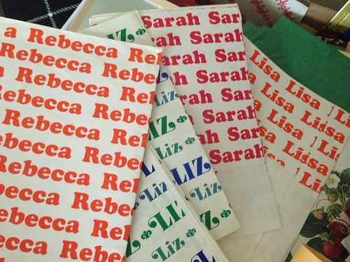 Name wrapping paper