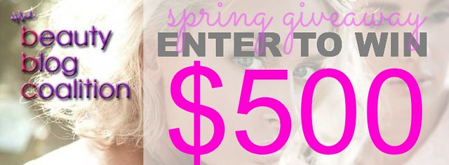 Beauty Blog Coalition Spring Giveaway. Win $500!