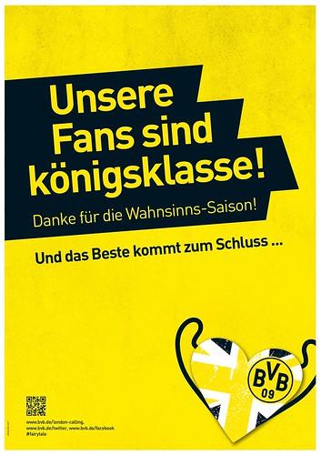 Borussia Dortmund (BVB)-Werbung: Unsere Fans sind königsklasse!