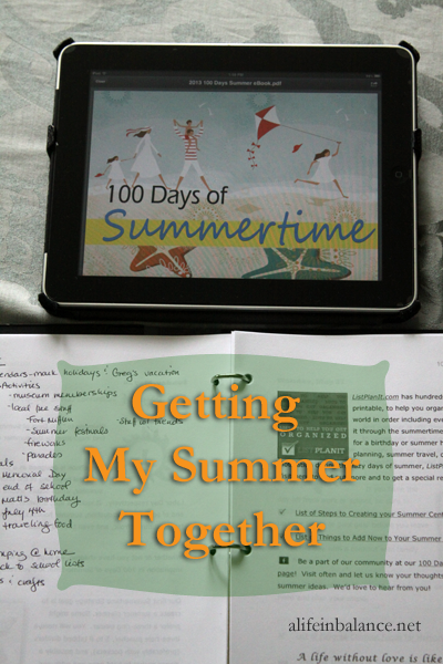 100 Days of Summer eBook from ListPlanIt.com
