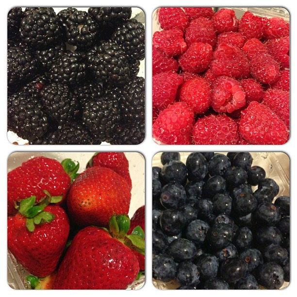 My favorite is the organic blackberries. They're so sweet. Love this kind of guilt-free (almost) midnight snack. #health #healthy #fitness #fruit #organic #berries #blackberries #blueberries #strawberries #raspberries #summer