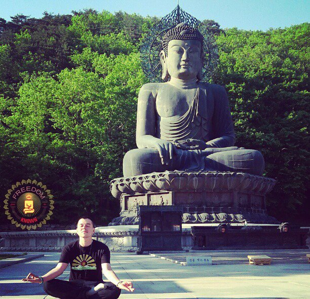 Meditating With Buddha