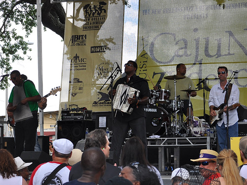 Chubby Carrier at the Cajun-Zydeco Fest