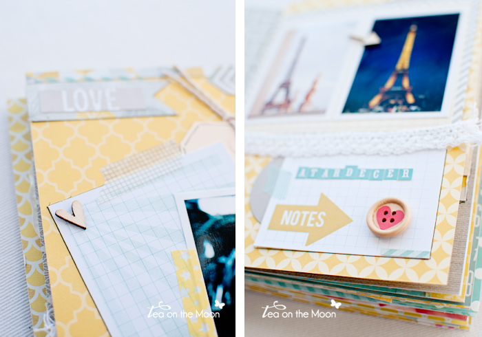 mini album scrapbook Paris detalles