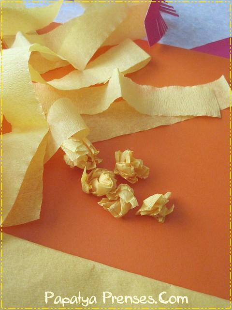 kartondan çiçekler 010