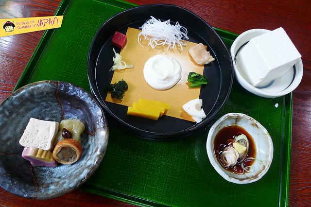 SASANOYUKI - tofu restaurant - appetizers
