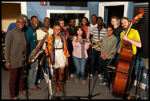 Jackie Harris of the Armstrong Jazz Camp, WWOZ's Khalid Hafiz, Calvin Johnson, Marlon Jordan, Melissa Bolden-Smith, Ben Cousins, Kreshon McDowell, Sakiko Namura, Tassion Minor, Thomas Glass, David Diongue, Morgan Stewart, Taylor Counce, Jonathan Solomon