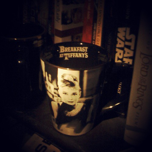 I bought this mug on vacation. Oh Audrey.... #AudreyHepburn #swoon