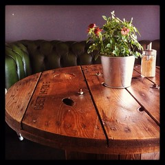 Table at The Green Coffee Machine