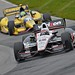 Will Power leads Tony Kanaan into the Essas at the Mid-Ohio Sports Car Course