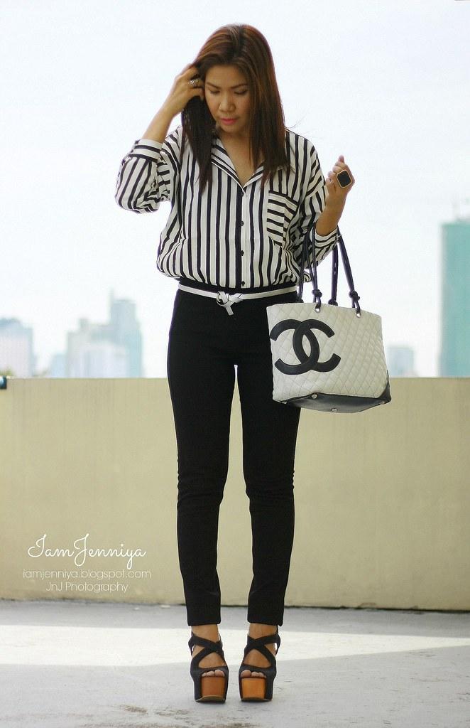 IamJenniya: How to wear vertical stripes?