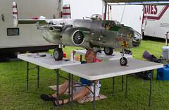 Paul LeTourneau preps his B-25 at Warbirds Over Delaware 2013