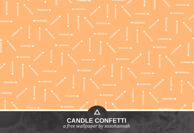 Candle Confetti Desktop Background Preview in Orange