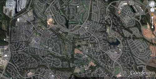 Loudoun County sprawl (Leesburg) (via Google Earth)