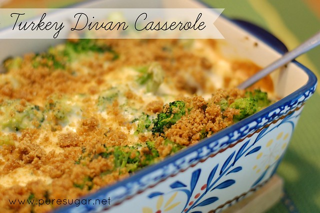 Turkey divan casserole for Divan turkey