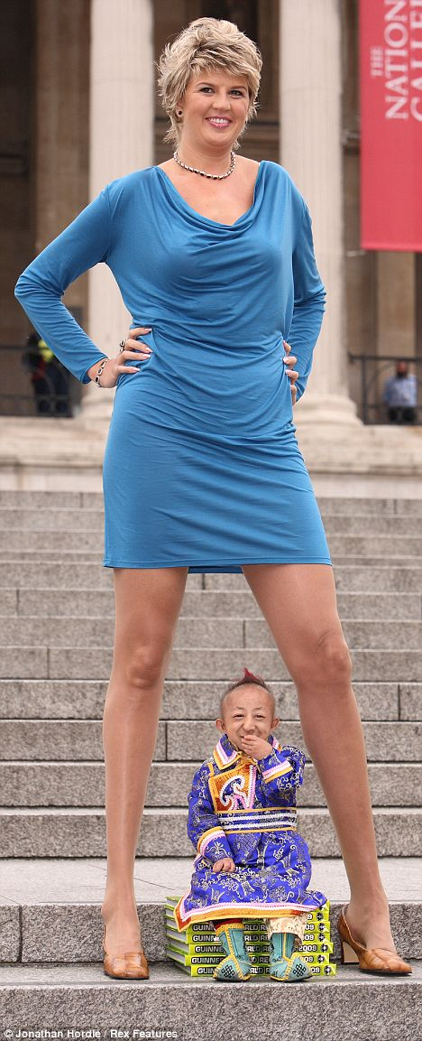 tallest woman shortest man