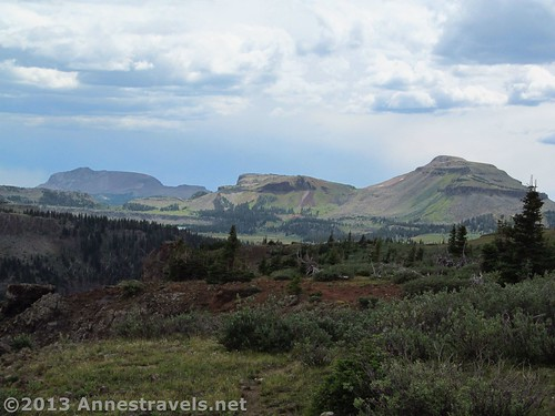 Views of Trappers Peak and more from the Himes Peak area, Flat Tops Wilderness, Colorado