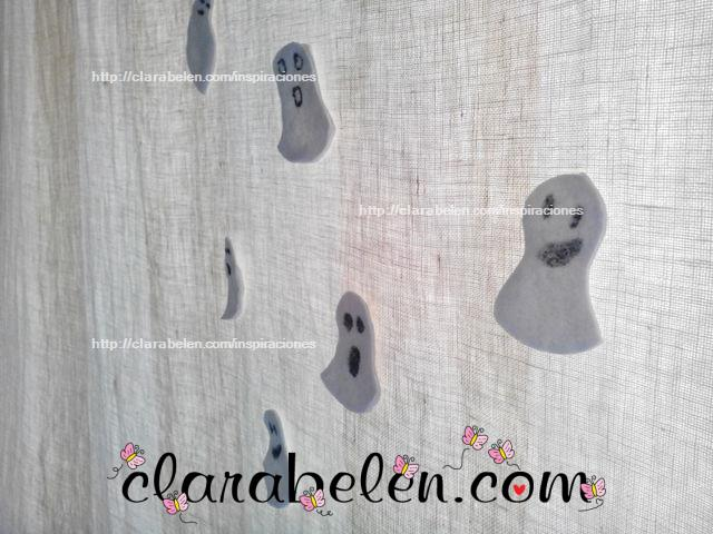 fantasma halloween con algodones