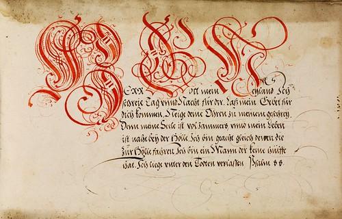 007-Kalligraphische Schriftvorlagen- 1626-1634- Johann Hering- Staatsbibliothek Bamberg