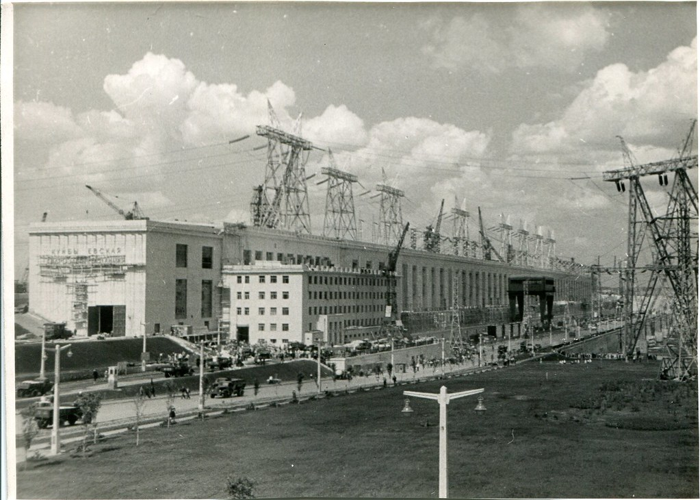 84_Строительство здания управления Волжской ГЭС