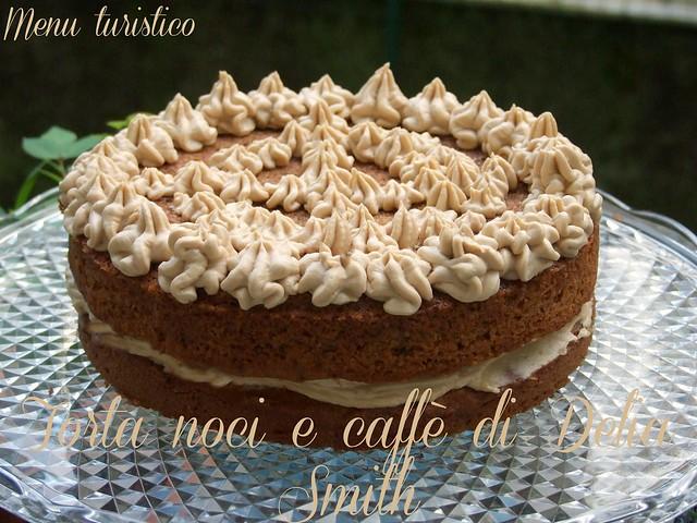 torta noci e caffè