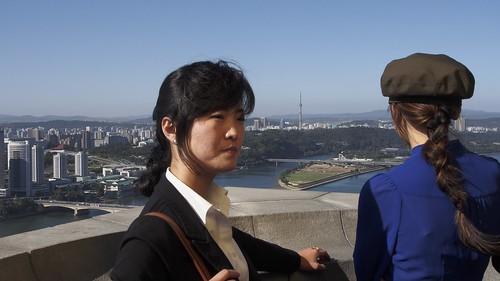 travel bus monument landscape scenery asia cityscape guide northkorea pyongyang dprk juche jucheidea northkoreanguide youngpioneertours dprkguide