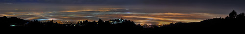california november orange black color northerncalifornia fog night dark oakland nikon over large overcast panoramic bayarea eastbay d200 stitched panarama contracostacounty 2013 hillerhighlands
