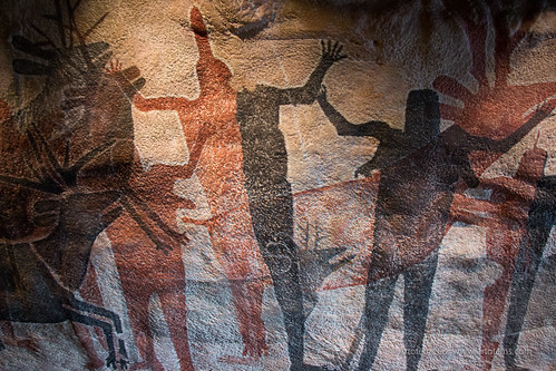 Cave Painting at the National Museum of Anthropology, Mexico City