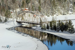 "Winter reflections ""Old 510 Bridge"" Dead River near Marquette, MI. by Michigan Nut"