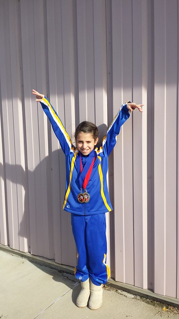 annie did good...2 medals at her latest gymnastics meet