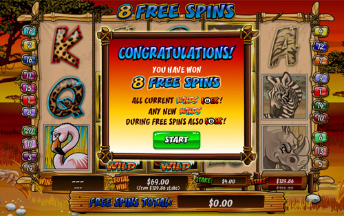 free Wild Gambler slot free spins feature