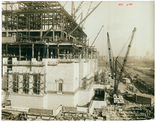 Photograph of the National Archives Building Being Constructed, 12/04/1933