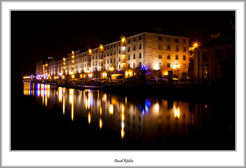 Spiers Wharf at night