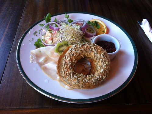 Smoked Turkey Bagel by raise my voice