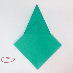 สอนวิธีการพับกระดาษเป็นรูปปลาฉลาม (Origami Shark) 012