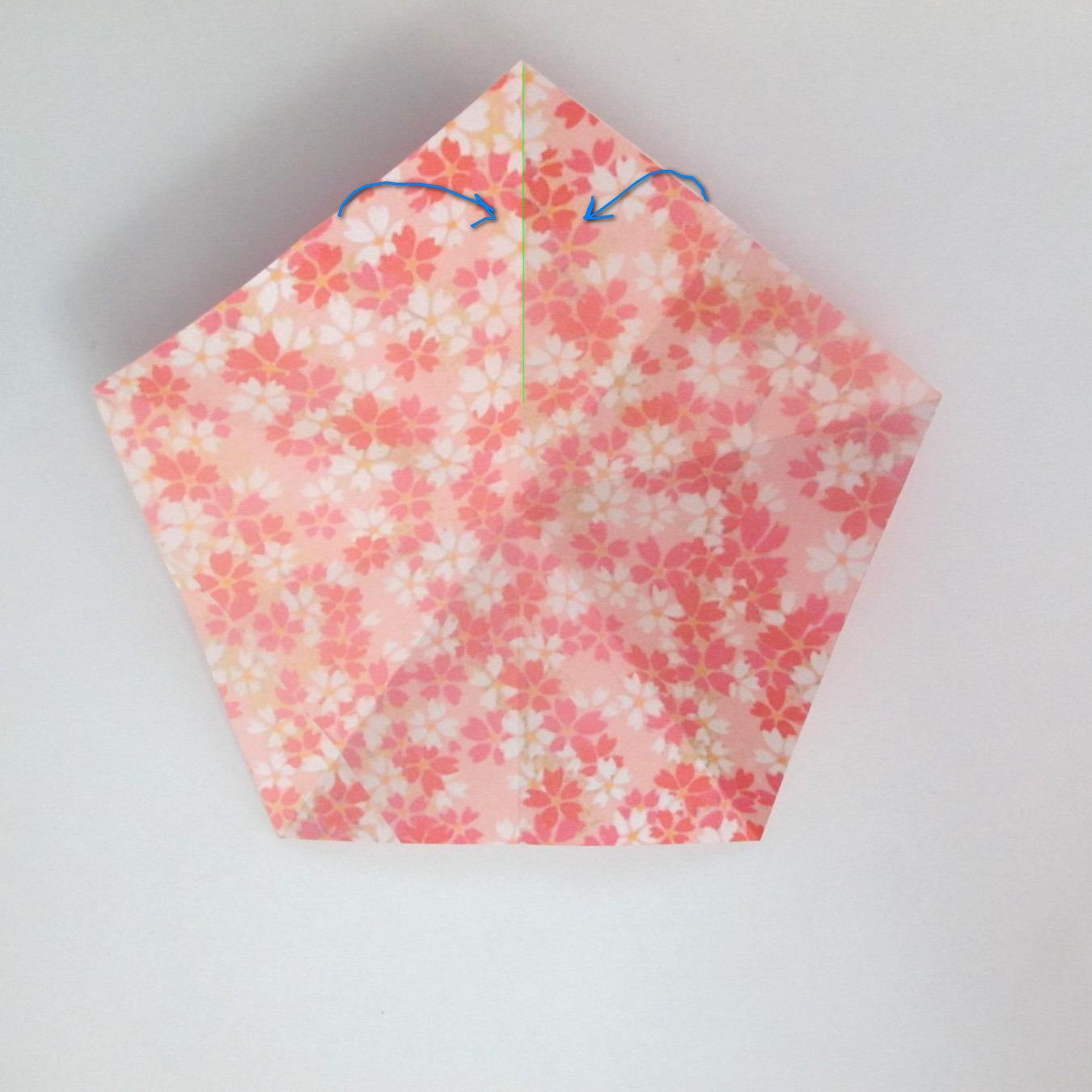 สอนวิธีการพับกระดาษเป็นดอกมะเฟือง (Origami Carambola) 006