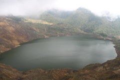mountain, reservoir, water, loch, volcanic crater, lake, body of water, highland, tarn, fell, crater lake,