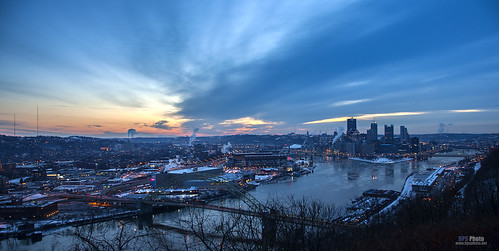 city morning sunrise landscape dawn pittsburgh cityscape unitedstates pennsylvania bluehour