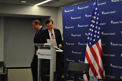 Georgian Prime Minister Irakli Garibashvili gives his first public address in the US at the Atlantic Council.
