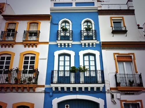 Fachadas del barrio de Triana (Sevilla)