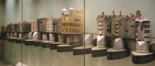 Old London Bridge, around 1600