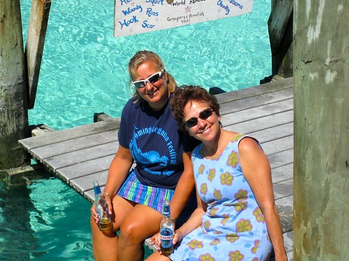 Having fun at Compass Cay marina