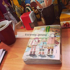 Forever Young... at heart like little #Yotsuba.  #comic #book #series #manga #anime hopefully soon. Fact about me: I find pleasure with sharpening pencils with a mechanical #sharpener. I roam around the office looking for dull pencils and sharp it for the