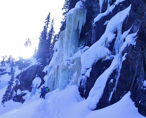 Loch Vale Ice Climbing Wall - Crystal Meth Area